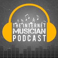 The Internet Musician Podcast logo: DIY indie music marketing and internet music promotion